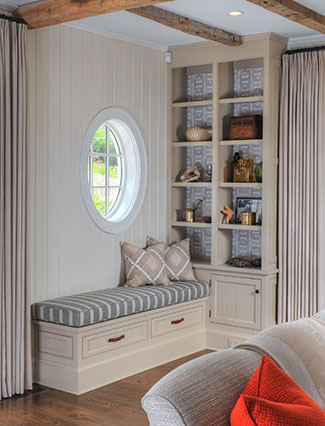 Complete home built in bookshelf